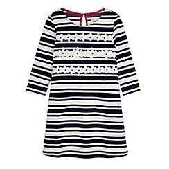 Yumi Girl - Blue Stripe Daisy Shift Dress