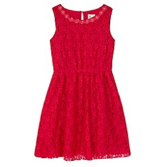 Yumi Girl - Pink Embellished Daisy Lace Dress