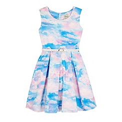 Yumi Girl - Blue Cloud Print Day Dress