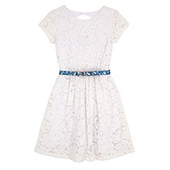 Yumi Girl - White Floral Lace Party Dress