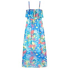 Yumi Girl - Multicoloured  Underwater Print Maxi Dress