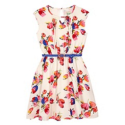Yumi Girl - Multicoloured  Tulip Print Day Dress