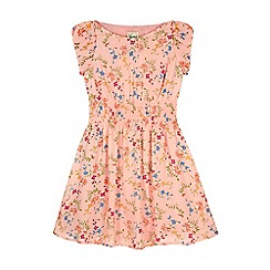 Yumi Girl - Pink Ditsy Floral Print Day Dress