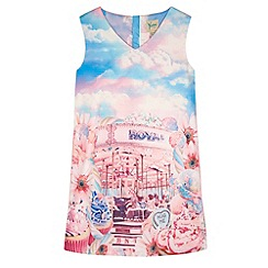 Yumi Girl - Pink Carousel Print Shift Dress