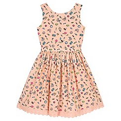 Yumi Girl - Pink Seaside Pier Print Day Dress