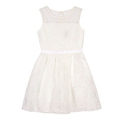 Yumi Girl - WHITE Rose Floral Party Dress