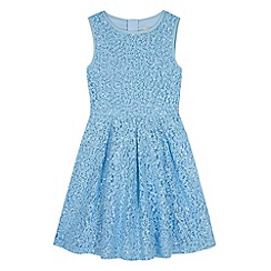 Yumi Girl - Blue Sequin Embellished Lace Dress