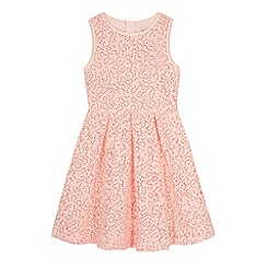 Yumi Girl - Pink Sequin Embellished Lace Dress