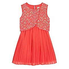Yumi Girl - Pink Sequin Embellished Pleated Dress