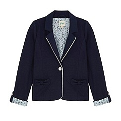 Yumi Girl - Blue Lace Lined Blazer