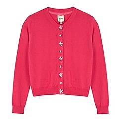 Yumi Girl - Pink Embellished Button Cardigan