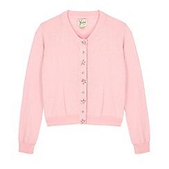 Yumi Girl - Pink Embellished Button Cardigan