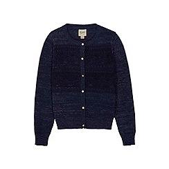Yumi Girl - Blue Lace Applique Cardigan