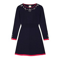 Yumi Girl - Blue Embellished Jumper Dress