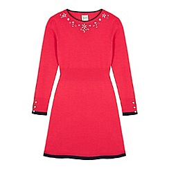 Yumi Girl - Pink Embellished Jumper Dress