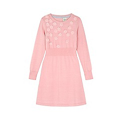 Yumi Girl - Pink Embellished Flower Jumper Dress