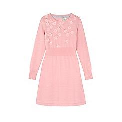 Yumi Girl - Pink Embellished Flower Jumper Dress