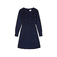 Yumi Girl - Blue Embellished Flower Jumper Dress