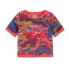 Yumi Girl - Multicoloured  Floral Meadow Print Top