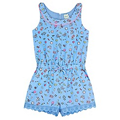 Yumi Girl - Blue Pier Print Playsuit
