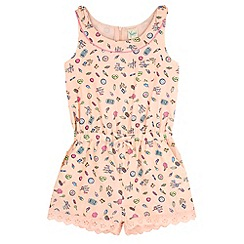 Yumi Girl - Pink Pier Print Playsuit