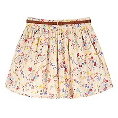 Yumi Girl - Multicoloured  Confetti Floral Print Skirt