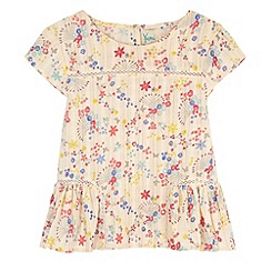 Yumi Girl - Multicoloured  Confetti Floral Print Peplum Top