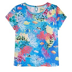 Yumi Girl - Blue Underwater Print T-Shirt