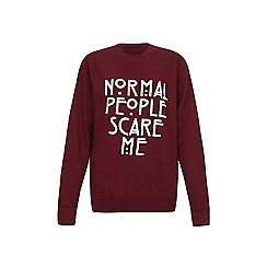Iska - Red normal slogan print sweatshirt