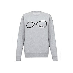 Iska - Grey love slogan print sweatshirt