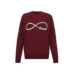 Iska - Red love slogan print sweatshirt