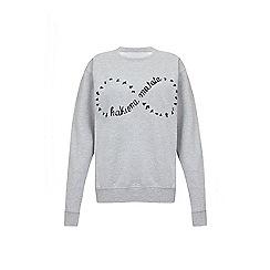 Iska - Grey hakuna matata slogan print sweatshirt