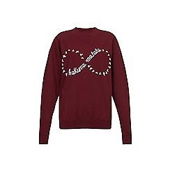 Iska - Red hakuna matata slogan print sweatshirt