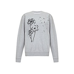 Iska - Grey dandelion print sweatshirt