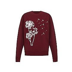 Iska - Red dandelion print sweatshirt