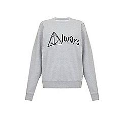 Iska - Grey always slogan print sweatshirt