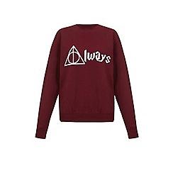 Iska - Red always slogan print sweatshirt