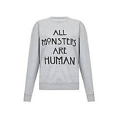 Iska - Grey monsters slogan print sweatshirt