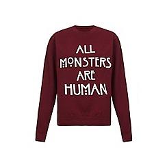 Iska - Red monsters slogan print sweatshirt