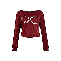 Iska - Red Hakuna Matata Slogan Cropped Top