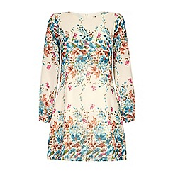 Yumi - Floral sleeved tunic dress