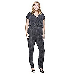 Mela London Curve - Silver wrap over front jumpsuit