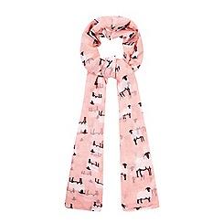 Yumi - Pink Sheep Print Scarf