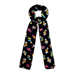 Yumi - Black Scotty Dog Print Scarf