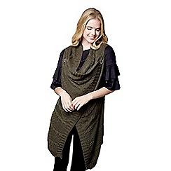 Mela London - Green sleeveless button gillet