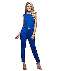 Mela London - Blue belted jumpsuit