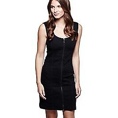 Mela London - Black denim 'Rae' mini bodycon dress