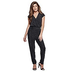 Mela London - Silver cross-over front jumpsuit