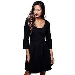 Mela London - Black denim 'Emily-rose' mini skater dress