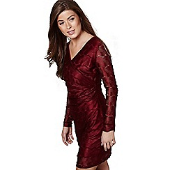 Mela London - Red lace 'Freyja' v-neck bodycon dress